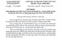 Trình Bộ VHTTDL thẩm định Báo cáo KTKT tu bổ, tôn tạo Di tích quốc gia khu mộ Nguyễn Nhữ Lãm