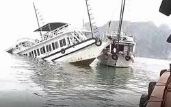 Tàu du lịch bất ngờ bị chìm trên vịnh Hạ Long sáng nay