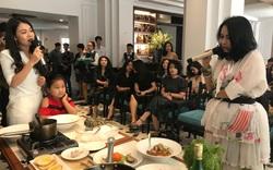 Diva Thanh Lam mê mẩn khi được đầu bếp Canada trổ tài chế biến đồ ăn kiểu Pháp ngay tại Hải Phòng