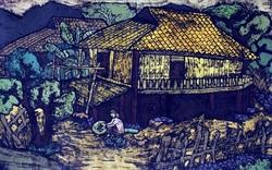 Trưng bày tranh khắc gỗ và áo dài in tranh đồ họa tại Bảo tàng Mỹ thuật Việt Nam