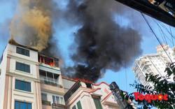 Hà Nội: Cháy chung cư mini trên phố Trung Kính