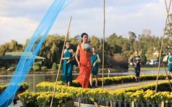 Chiêm ngưỡng bộ sưu tập lụa tơ tằm Bảo Lộc và thổ cẩm Lâm Đồng