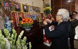 Tổng Bí thư, Chủ tịch nước dâng hương tưởng niệm các vị lãnh đạo tiền bối