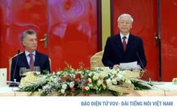 Tổng Bí thư, Chủ tịch nước mở tiệc chiêu đãi Tổng thống Argentina
