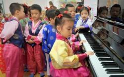 Học sinh trường Mầm non Việt Triều Hữu nghị học hát nhân Hội nghị thượng đỉnh Mỹ - Triều tại Việt Nam