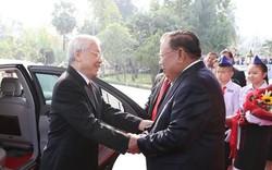 Tổng Bí thư, Chủ tịch nước Nguyễn Phú Trọng hội đàm với Tổng Bí thư, Chủ tịch nước CHDCND Lào