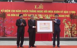 Khu di tích kỷ niệm chiến thắng Ngọc Hồi đón nhận Bằng xếp hạng di tích lịch sử cấp Thành phố