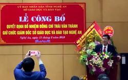 Đồng chí Thái Văn Thành giữ chức Giám đốc Sở GDĐT Nghệ An