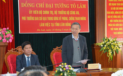 Đại tướng Tô Lâm làm việc với Tỉnh ủy Lâm Đồng về công tác phòng, chống tham nhũng