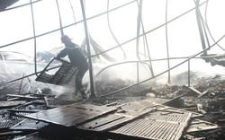 Cháy lớn tại nhà kho chứa sản phẩm từ gỗ