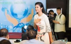 Hoa hậu Ngọc Hân gây bất ngờ với mẫu áo dài lấy cảm hứng từ nước