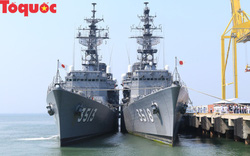 Hình ảnh hai tàu khu trục Nhật Bản cập cảng Tiên Sa - Đà Nẵng