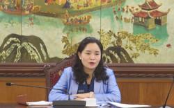 Thứ trưởng Trịnh Thị Thủy làm việc với Vụ Pháp chế về Dự thảo hai Thông tư