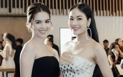 Hoa hậu áo dài Tuyết Nga đọ dáng cùng Ngọc Trinh trong show diễn