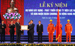 Phó Thủ tướng Vương Đình Huệ trao Huân chương Lao động hạng Nhì cho Công ty Điện lực Nghệ An