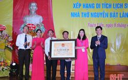 Hà Tĩnh: Đón bằng xếp hạng di tích quốc gia Nhà thờ Tiến sỹ Nguyễn Bật Lãng