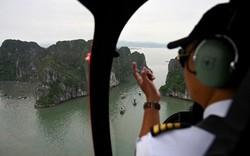 Hãng tin AFP ấn tượng trực thăng ngắm cảnh Vịnh Hạ Long
