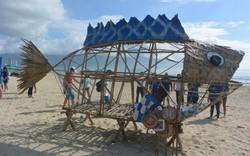 """Xuất hiện Bống (Goby) """"ăn"""" rác thải nhựa trên bãi biển Đà Nẵng"""