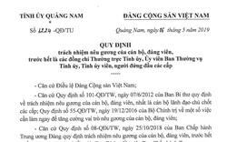Quảng Nam yêu cầu cán bộ chủ chốt không đủ năng lực nên chủ động xin từ chức