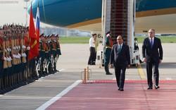 Hình ảnh Lễ đón chính thức Thủ tướng Nguyễn Xuân Phúc tại Thủ đô Moscow (Nga)