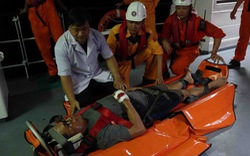 Xuyên đêm cứu thuyền viên tàu Liberia bị nạn trên biển