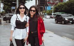 Hoa hậu Hà Kiều Anh hội ngộ bạn thân Dương Mỹ Linh tại xứ sở kim chi