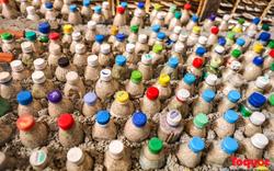 Độc đáo với ngôi nhà được làm từ hàng nghìn vỏ chai nhựa bỏ đi ở Lý Sơn