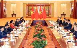 Chủ tịch Quốc hội Việt Nam hội đàm với Chủ tịch Nhân đại Trung Quốc