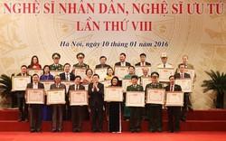 391 nghệ sĩ được Thủ tướng Chính phủ trình Chủ tịch nước phong tặng, truy tặng danh hiệu NSND, NSƯT
