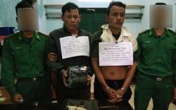 Hai đối tượng người Lào buôn ma túy đá bị bắt ở biên giới