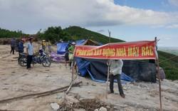 Dân dựng lều phản đối thi công dự án lò đốt rác