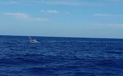 Cứu nạn 06 thuyền viên tàu QB 92838 TS bị chìm tại khu vực phía Tây quần đảo Hoàng Sa