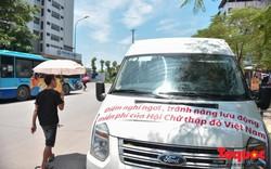 Hà Nội: Lần đầu tiên xuất hiện điểm tránh nắng lưu động bằng xe bus cho người lao động