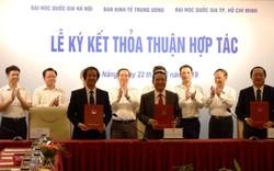 Ký kết hợp tác giữa Ban Kinh tế Trung ương với hai Đại học Quốc gia