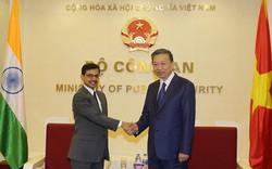 Bộ trưởng Bộ Công an Tô Lâm tiếp Đại sứ Cộng hòa Ấn Độ tại Việt Nam 