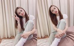Hoa hậu Hương Giang bị gãy xương chân phải bó bột