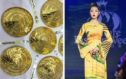 30 chiếc nón lá dát vàng cùng áo dài Việt Nam tung bay trên đất Mỹ