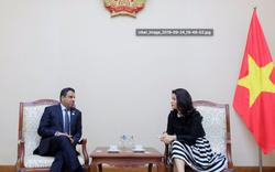 Cục trưởng Cục Hợp tác quốc tế tiếp Đại sứ Đặc mệnh toàn quyền Các Tiểu Vương quốc Ả-rập Thống nhất (UAE)
