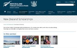 New Zealand Scholarships cấp 30 suất học bổng toàn phần sau đại học