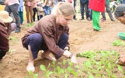 Khách Tây hào hứng xới đất, trồng rau ở làng rau hơn 400 năm tuổi