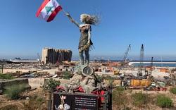 Bức tượng đặc biệt làm từ mảnh vỡ còn lại từ vụ nổ kinh hoàng tại Lebanon