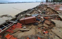 Những hình ảnh thiệt hại ban đầu ở Đà Nẵng và Thừa Thiên Huế do bão Vamco, Quảng Bình di dời hàng trăm hộ dân tránh bão