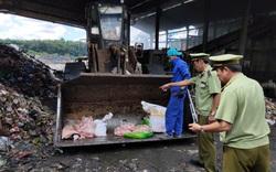 Phát hiện 75kg thịt lợn bốc mùi hôi thối