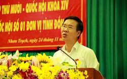 Đồng chí Võ Văn Thưởng tiếp xúc cử tri tại Nhơn Trạch, Đồng Nai