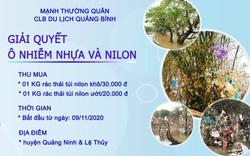 Quảng Bình: Gom túi nilon, rác thải nhựa sau lũ