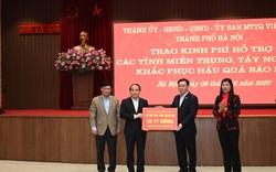 Hà Nội ủng hộ 91 tỷ đồng cho các địa phương khắc phục hậu quả do mưa lũ gây ra