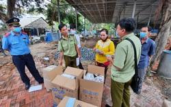 Tạm giữ 7.500 chiếc khẩu trang và nhiều mỹ phẩm xuất xứ Thái Lan