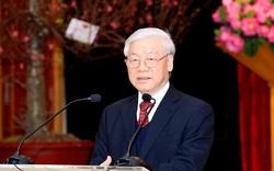 Tổng Bí thư, Chủ tịch nước Nguyễn Phú Trọng chúc Tết lãnh đạo và nguyên lãnh đạo Đảng, Nhà nước, Mặt trận Tổ quốc