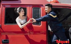 Nghệ An: Bộ ảnh cưới ấn tượng của chàng lính cứu hỏa 9X