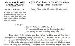 Quảng Nam cho học sinh, sinh viên nghỉ học đến hết ngày 16/2 để phòng chống virus Corona
